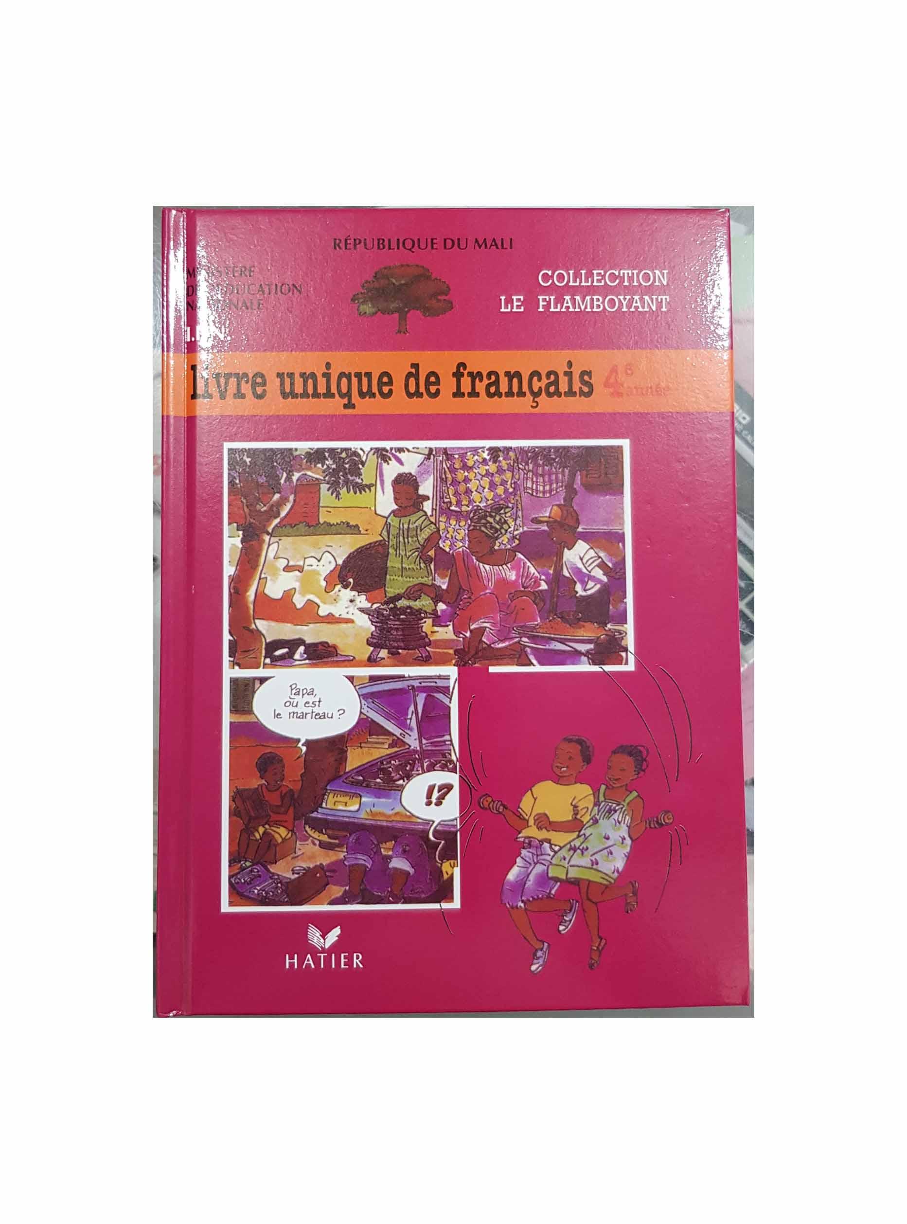 Livre Unique De Francais 4eme Mali Achats